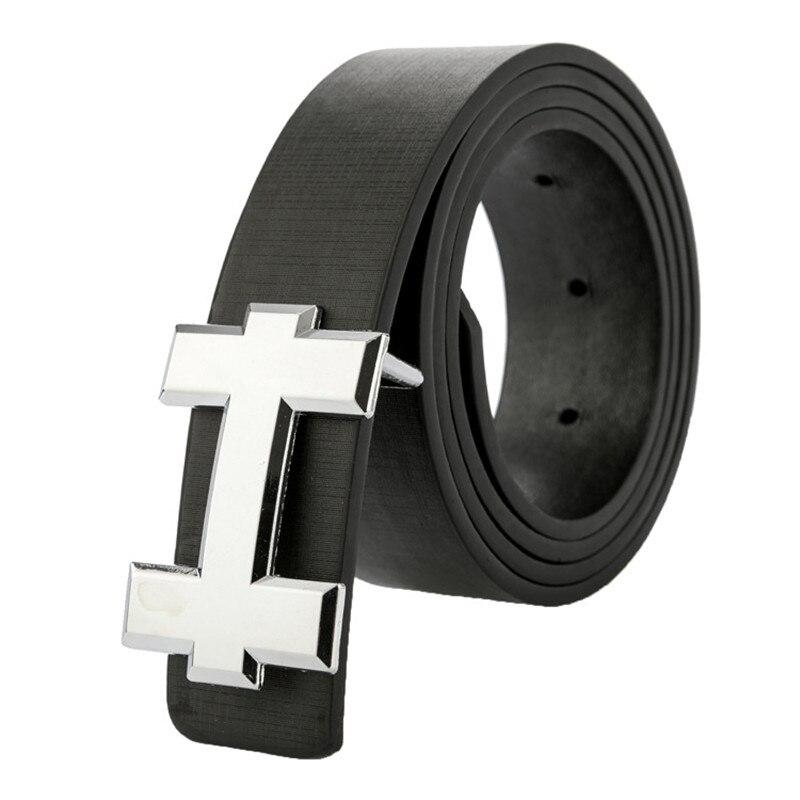Brand Designer Men Belt For Women Letter H/G Smooth Buckle Belt 3.3cm Wide Casual PU Leather Belt Straps