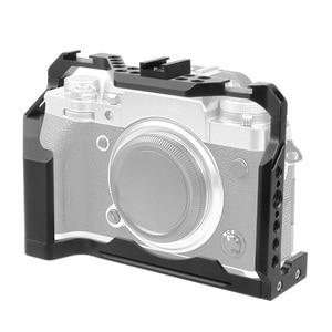 Image 5 - FEICHAO XT4 كاميرا قفص الألومنيوم الإطار واقية كامل قفص w/الباردة مقعد الحذاء جبل ل Mic فلاش ضوء ل فوجي فيلم فوجي X T4