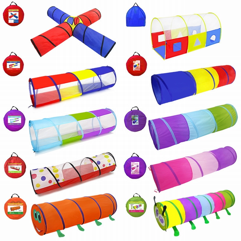 CYSINCOS  Colors Toy Crawling Tunnel Children Outdoor And Indoor  Baby Play Crawling Games  To The Tent