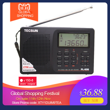Tecsun PL 606 디지털 PLL 휴대용 라디오 FM 스테레오/LW/SW/MW DSP 수신기 인터넷 라디오 FM:64 108 MHz/LW: 153 513 kHz 라디오