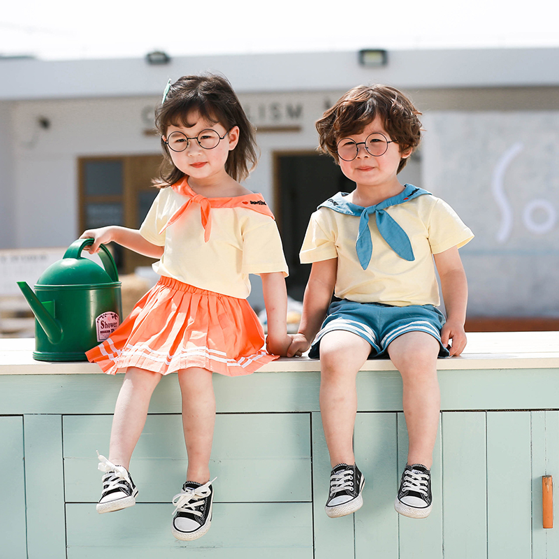 MILANCEL summer kids clothes brother and sister clothes set  girl outfit set boys shorts set girls skirt set