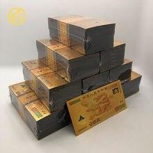 Novo tipo chinês 1000000 cédula da folha de ouro para a coleção do dinheiro