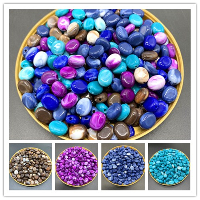 New 8x6mm 100pcs of Acrylic Beads Earrings Necklace Accessories Beads For Jewelry Making DIY Jewelry Findings(China)