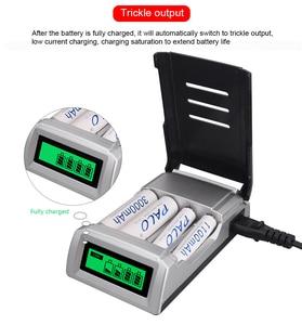 Image 4 - 2017 חם אינטליגנטי 4 חריצים LCD תצוגת סוללה מטען עבור AA/AAA NIMH סוללה מכיל מעולה הגנת כובע מטען