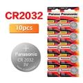 PANASONIC 2020 Акция распродажа 10 шт. 3 в CR2032 CR 2032 часы батарейки Кнопка монеты пила калькулятор литиевая батарея