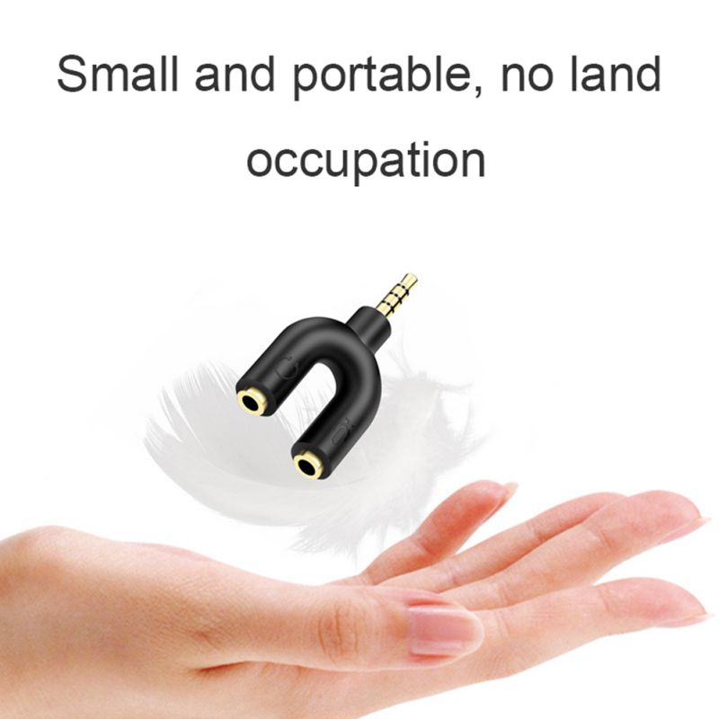 Купить с кэшбэком Random Delivery Headphone Adapter Cable Computer Cable Pair 3.5mm Audio Adapter 1/2 Splitter For Portable Mobile Phone