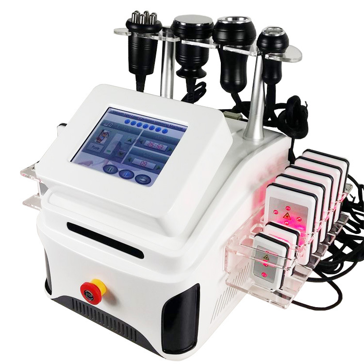 Portable Ultrasonic Cavitation+Vacuum Suction+RF+Laser System Body Fat Loss Machine