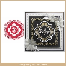 Flower Lace Irregular Figure Hollowed Frame DIY Metal Cutting Dies Die Cut Make Cards Album Photos Embossing Paper New Stencils cute baby clothes bow lace leather belt button metal cutting dies diy scrapbook craft new stencils make cards embossing paper