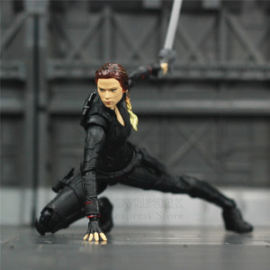 "Image 3 - Avenger 4 Endgame Black Widow 6"" Action Figure Infinity stones Soul Gem Scarlett Johansson Legends KOs SHF Doll Toys Model"