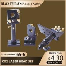 Startnow DIY CO2 Laser Kopf Set Fokussierung Objektiv Laser Spiegel Halterung Integrative Basis Für Cutter Maschine Metall Hardware Werkzeuge