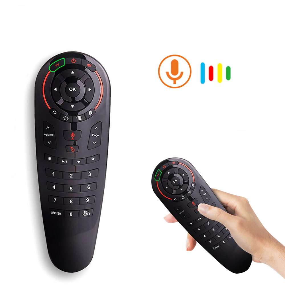 G30 Remote control 2.4G Wireless Voice Air Mouse 33 keys IR learning Gyro Sensing Smart remote for Game android tv box