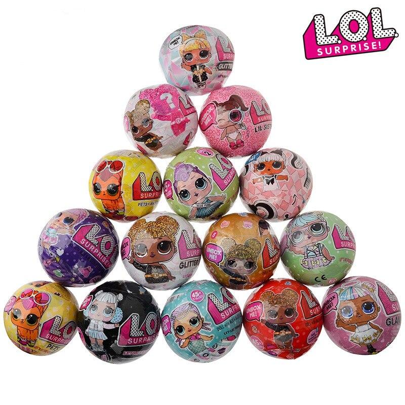 Lol surpresa bonecas lol animais de estimação bonecas brinquedos lol menina lol dolls ovo boneca bola caixa cega brinquedos para crianças presente de natal