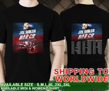Nuevo Joe Walsh mal es un infierno de una noche las fechas de la gira de 2016 negro camiseta 01
