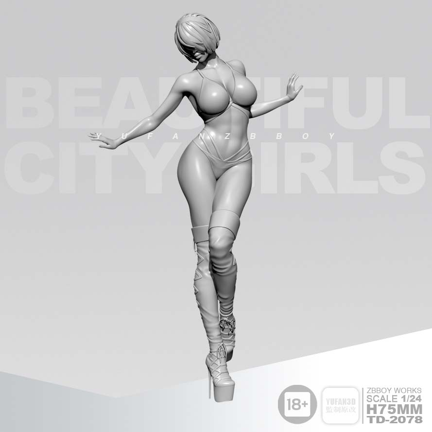 <font><b>1/24</b></font>,<font><b>75MM</b></font> <font><b>Resin</b></font> <font><b>models</b></font> Girl figures <font><b>kits</b></font> Unpainted image
