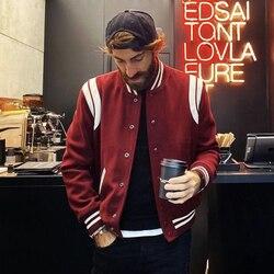 2020 chegada nova bombardeiro jaqueta masculina costela manga de algodão casual beisebol uniforme gola casaco estrela outono e inverno emendado curto