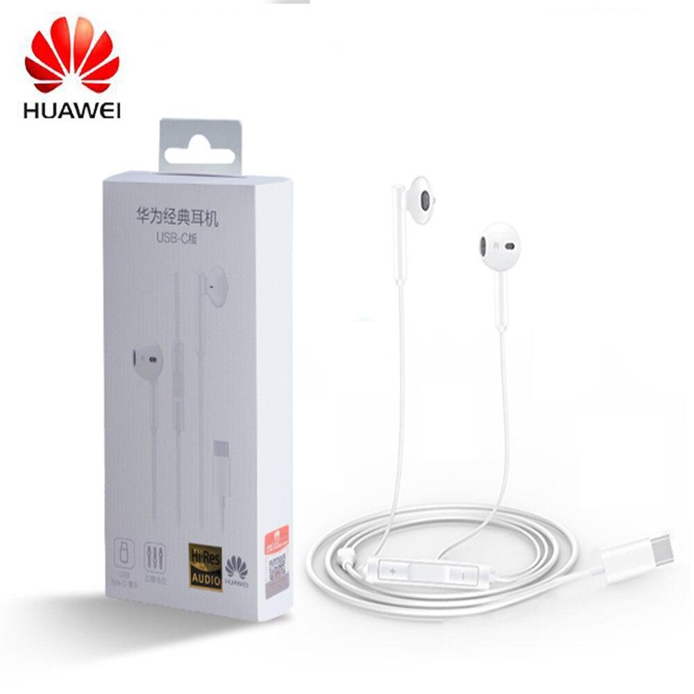 Оригинальные наушники HUAWEI CM33, USB Type-C, наушники-вкладыши, гарнитура с микрофоном для HUAWEI Mate 10, 20, 30 Pro, 20 X, RS, P10, 20, 30, Note 10