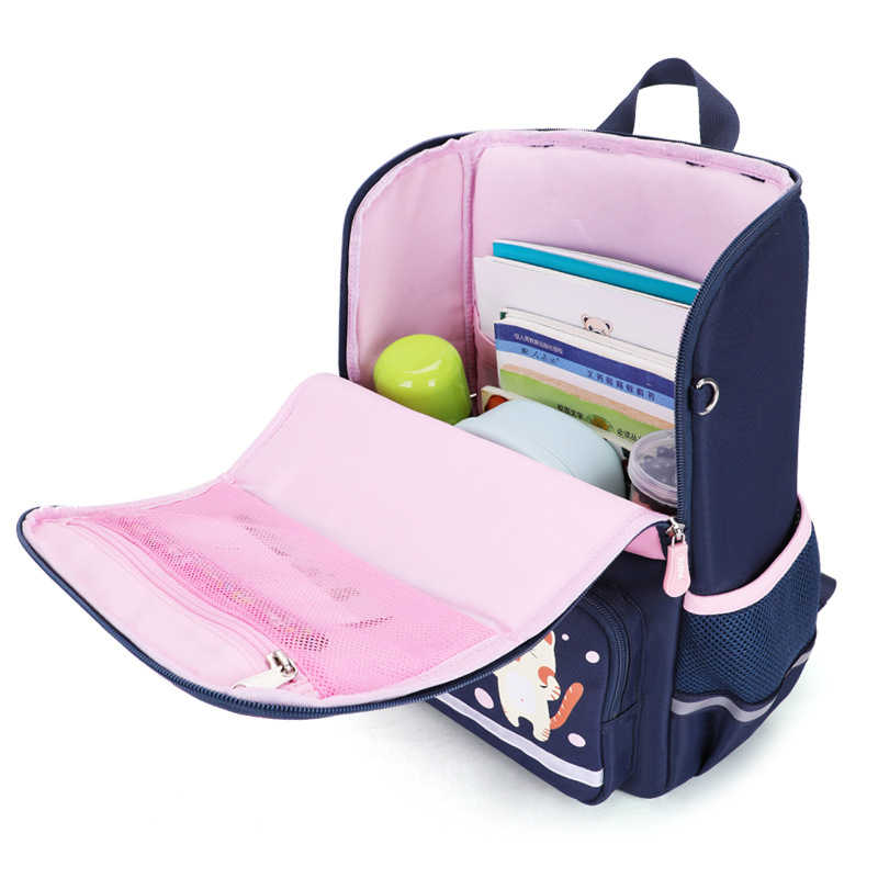 New Cartoon Backpack For Girls Boys Bear Pattern School Bag Children Orthopedic Backpacks Waterproof Mochila Infantil Grade1-3-5