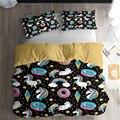 HELENGILI 3D Bettwäsche Set Einhorn Print Bettbezug set Lebensechte Bettwäsche mit Kissenbezug Bett Set Home Textilien # DJS 83|Bettwäsche-Sets|   -