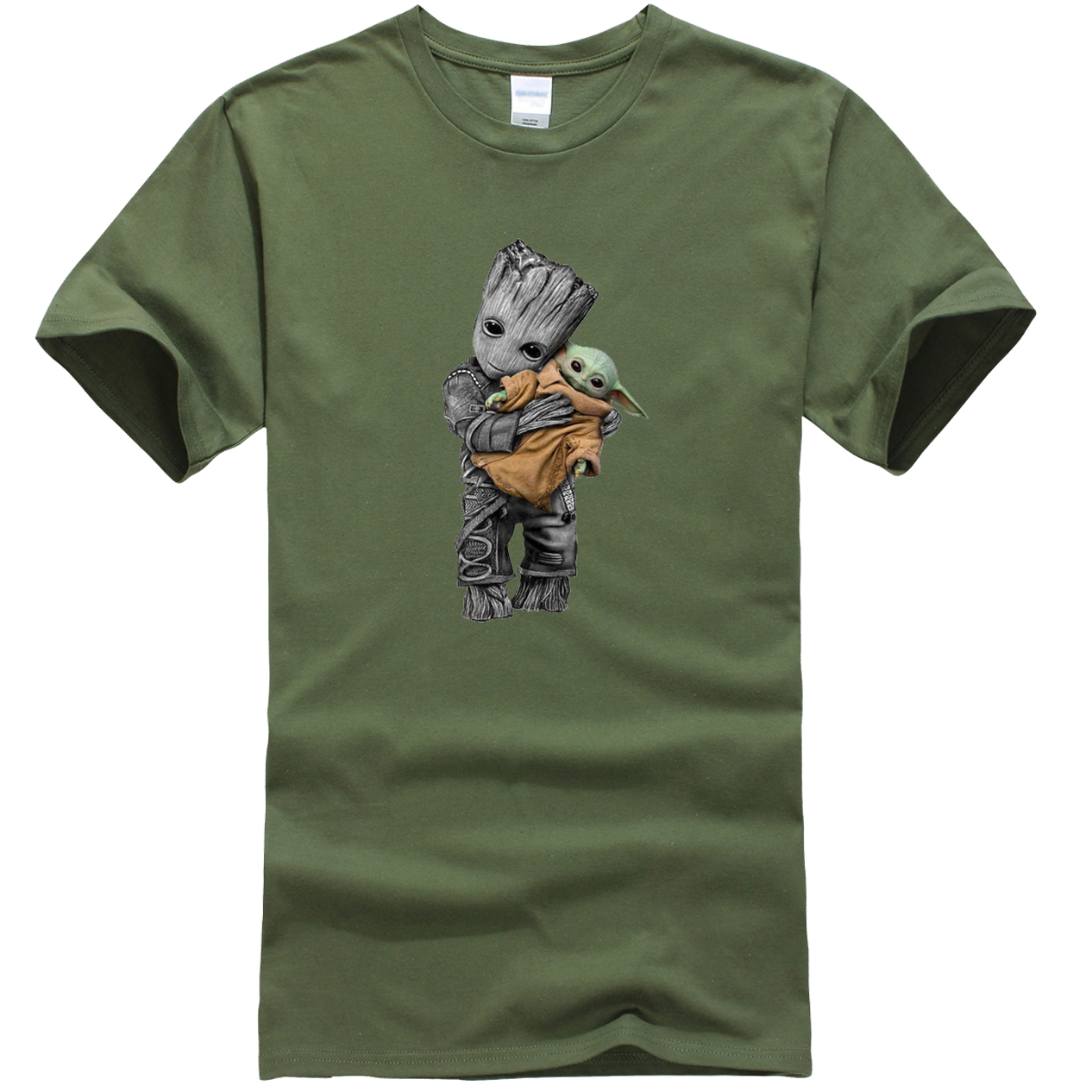 The Mandalorian Men T-Shirts Hip Hop Casual Star Wars Tops New Summer 2020 GROOT And Baby Yoda Male T Shirt Cotton Funny T-Shirt