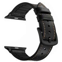 цена на Leather wrist Strap For Apple Watch band 42mm 44mm 38mm 40mm correa Apple watch Bracelet For iWatch Series 5 4 3 2 1 Sport Loop