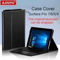 Ajuyu-funda protectora para Microsft Surface Pro, 7, 6, 5, 4, Pro6, pro5, pro4, pro7, tableta inteligente de 12,3 pulgadas, funda suave con teclado