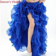 HOT SALE! senior yarn belly dance dress costumes sexy women latin shasha dance stage skirt for ladies belly dance Split skirts