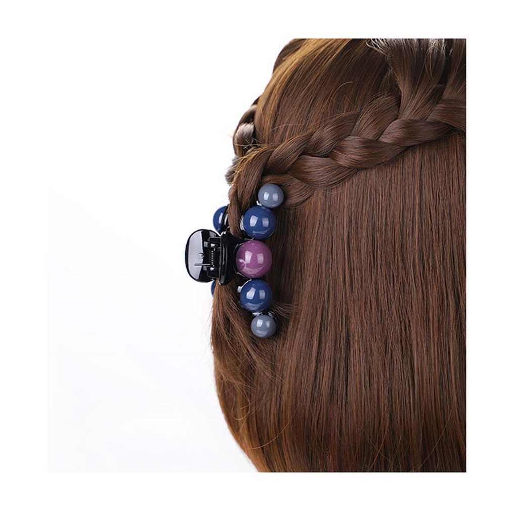 1PC Baru Fashion Plastik Rambut Cakar Wanita Hairgrips Bunga Trendi Klip Crystal Jepit Rambut Bulang Ornamen Aksesoris