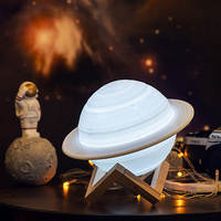Coquimbo 3D Printing Saturn Lamp Home Decoration Bedroom LED Night Light With