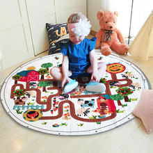 Children's Carpet Cotton Developing Mat 150cm Animal Baby Play Mats Kids Toys Rug Baby Puzzle Play Mat Storage Bag Toy(China)