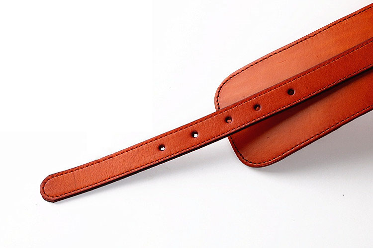 Image 5 - 100% Cowskin Wide Belt For Women High Quality Ceinture Femme Elastic Waistband Female Vintage Genuine Leather Belt Buckles-in Women's Belts from Apparel Accessories