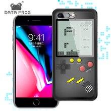 Data Frog Tetris Game Consoles For iPhone Case Mini Handheld 6/6s Retro Console 7 8P X/XS