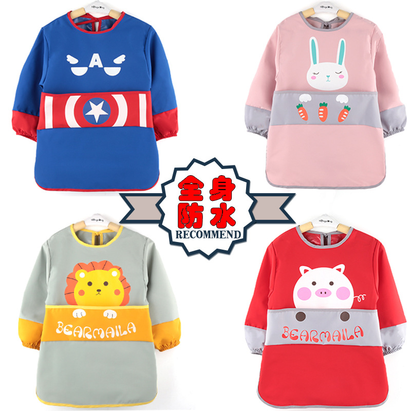 Eating Children Body Painting Overclothes Waterproof Apron Kids Pinny Kindergarten Painted Bib Infant Protective Clothing