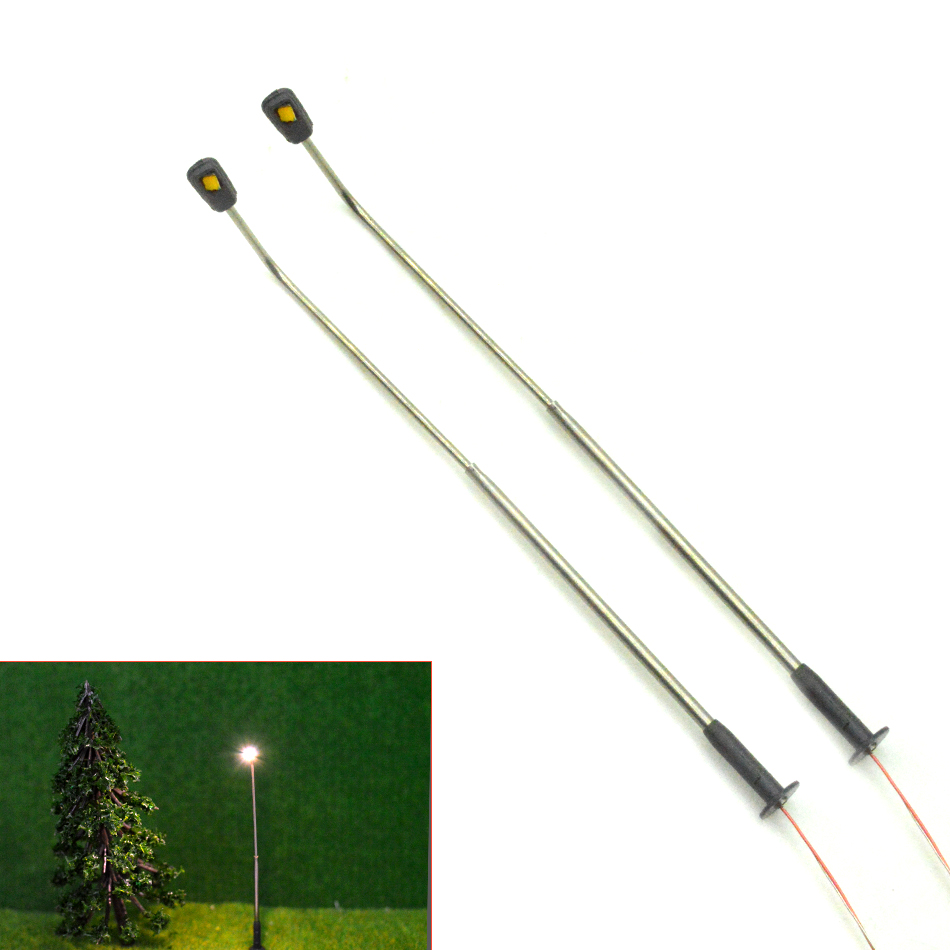 1/500 Scale 3cm Warmlight Miniature LED Street Light Toy For Diorama Architectural Making Layout Copper Metal Model Street Light