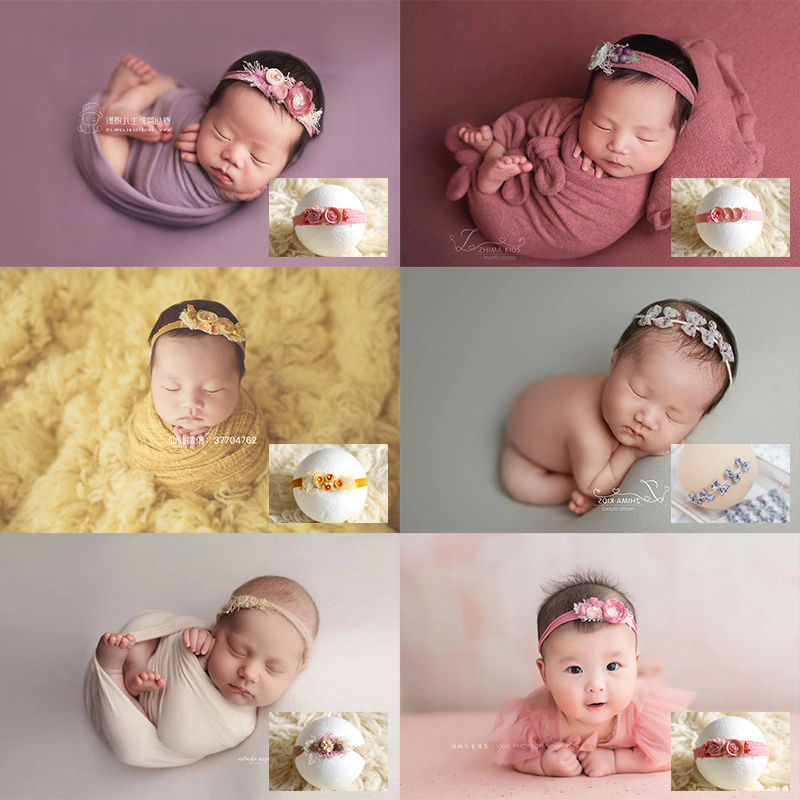 Baby Headband With Flower Girl Photo Shoot Newborn Photography Props For Studio Princess Headwear Flower Hair Accessories