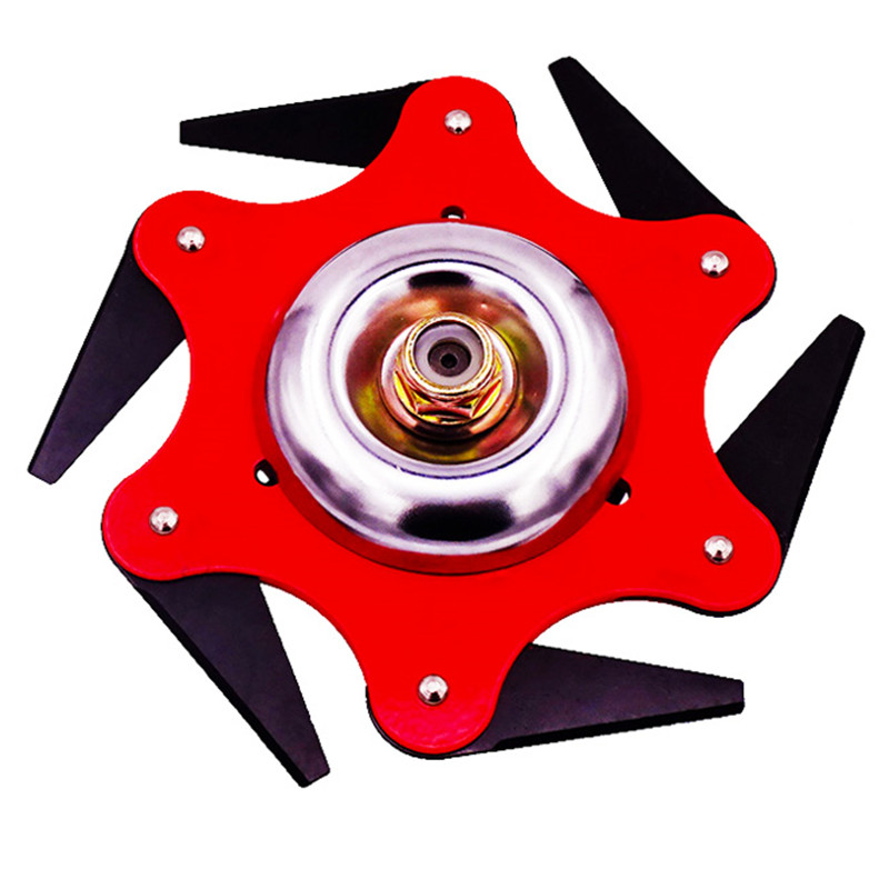 Universal 6 Blades Trimmer Head For Lawn Mower Garden Tool Trymer Brush Weed Cutter Blades 65Mn Steel Hedge Grass Trimmer Head