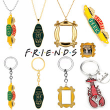 TV Show Friends Central Park Logo Photo Frame Monica's Double Side Door Necklace You're My Lobster Keychain(China)