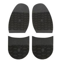 Набор из 4 мужских ботинок ремонт резиновая ручка на подошве половина противоскользящая черная