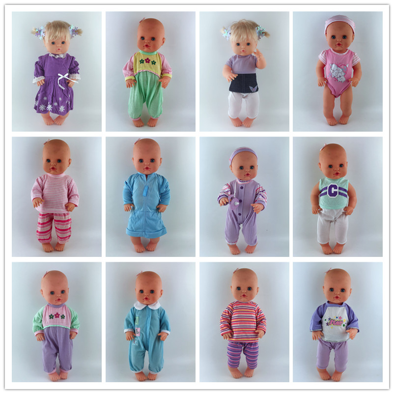 13inch Doll Clothes 35CM Nenuco Ropa Accesorios Nenuco Y Su Hermanita 15 Styles Home Clothing Sets Sleepwear Casual Clothes
