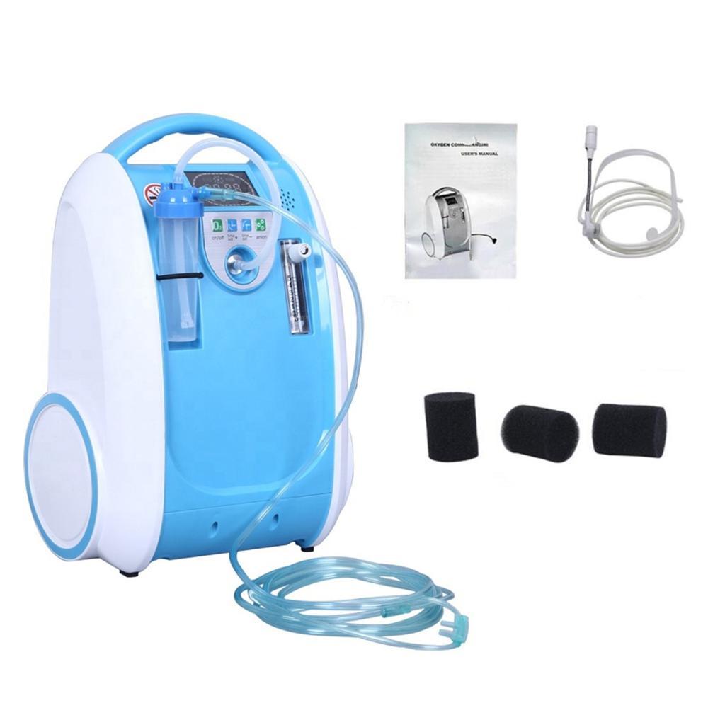 Máquina portátil do oxigênio do banco do oxigênio do concentrador do oxigênio 1-5l/min para respiradores do uso doméstico