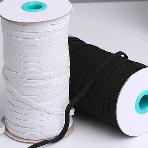 10m 3/4/5/6/8/10mm high quality Elastic Bands white and black Polyester Elastic ribbon for Sewing Fabric DIY Garment Accessories
