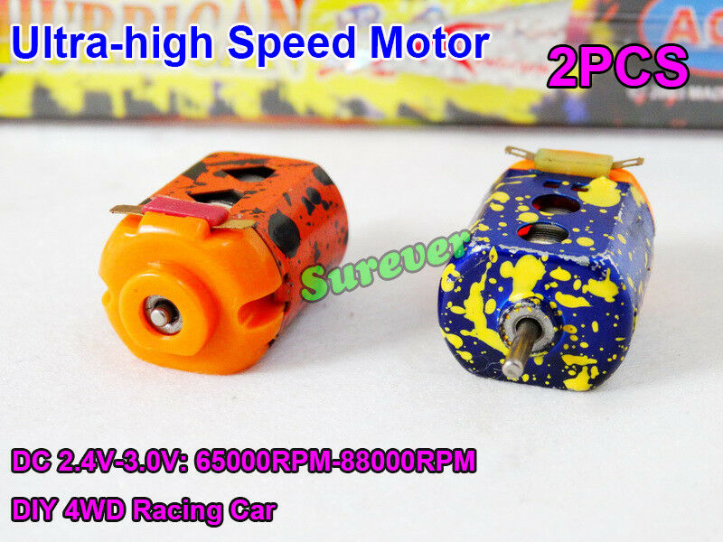 2 шт./пара Mini 130 двигатель постоянного тока 2,4 В-3 в 60000 об/мин ультра-высокая скорость DIY RC игрушка 4WD Слот Гоночный Автомобиль
