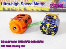 2 pcs/par mini 130 motor dc 2.4v-3v 60000rpm ultra-alta velocidade diy rc brinquedo 4wd slot carro de corrida
