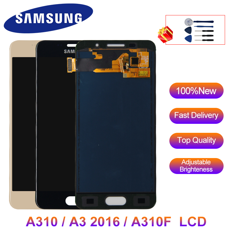 <font><b>A310</b></font> Display Adjustable For <font><b>Samsung</b></font> Galaxy A3 2016 <font><b>LCD</b></font> Touch Screen Digitizer Replacement Parts For <font><b>Samsung</b></font> A310F A3100 Display image