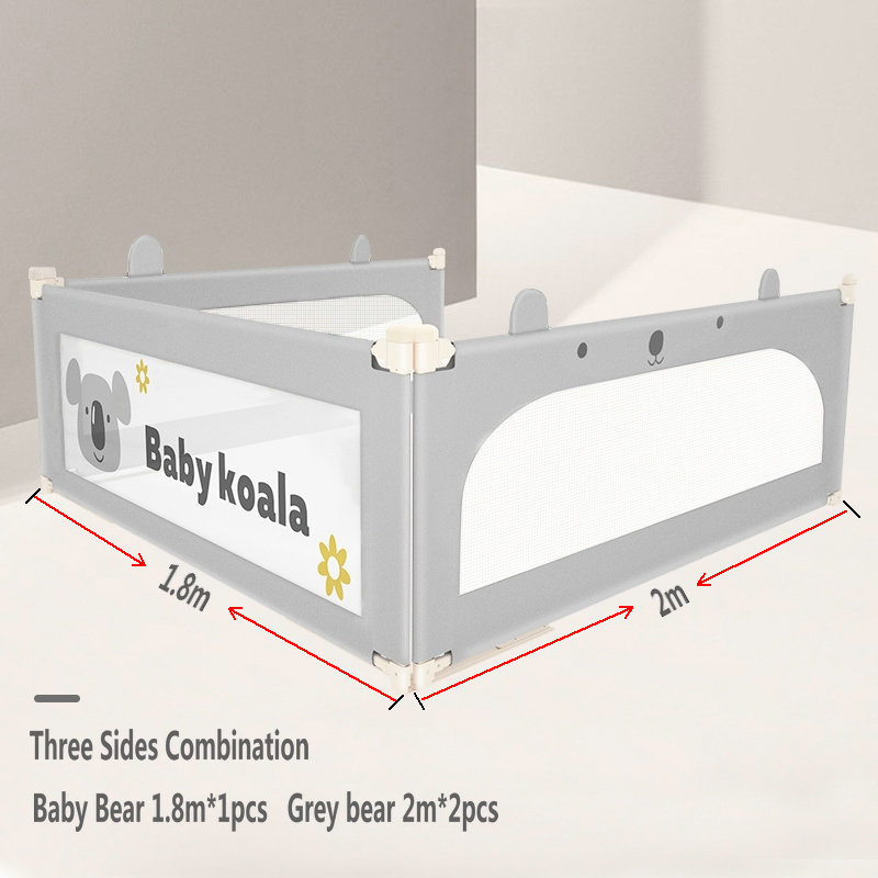 Baby Safety Gate Crib Rail  Baby Bed Fence Home Kid Playpen 2M Large Bed General   Security Fencing Children Guardrail