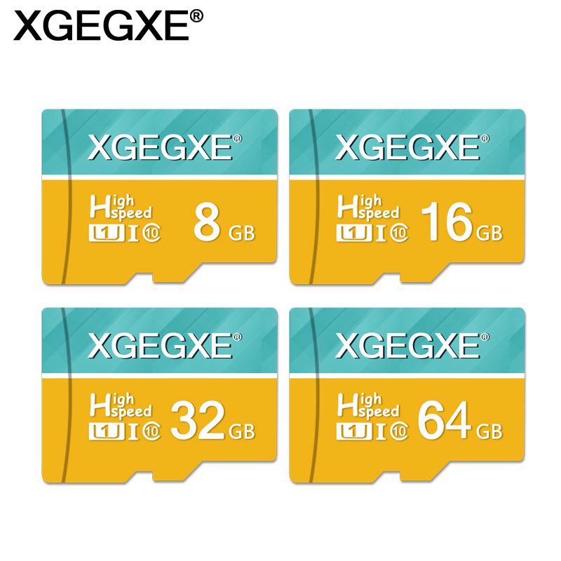 XGEGXE TF Card 64GB 32GB High Speed Class 10 16GB 8GB  U1 T Flash Card UHS-I For Phone Camera PC Memory Card