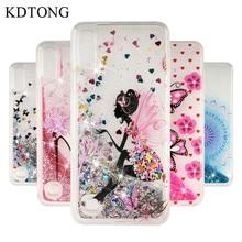 Glitter Liquid Case sFor Samsung Galaxy A10 A20 A30 A40 A50 A70 Soft Silicone Transparent Cover For M10 M20 M30