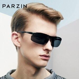 Image 5 - PARZIN Men Polarized Sunglasses for Driving Fishing Top Quality Aluminum Magnesium Sun Glasses Anti UV400 Outdoor Eyewear