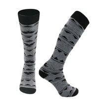 SMN Ski Socks Grey Outdoor Thick Long Tube Fast Dry Socks Men And Women Winter Warm Breathable Snowboarding Sports Socks
