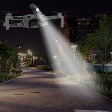 Zangão vôo noturno led luz para dji mavic mini fotografia preenchimento luz da lâmpada 3d impresso lanterna suporte mavic mini acessórios