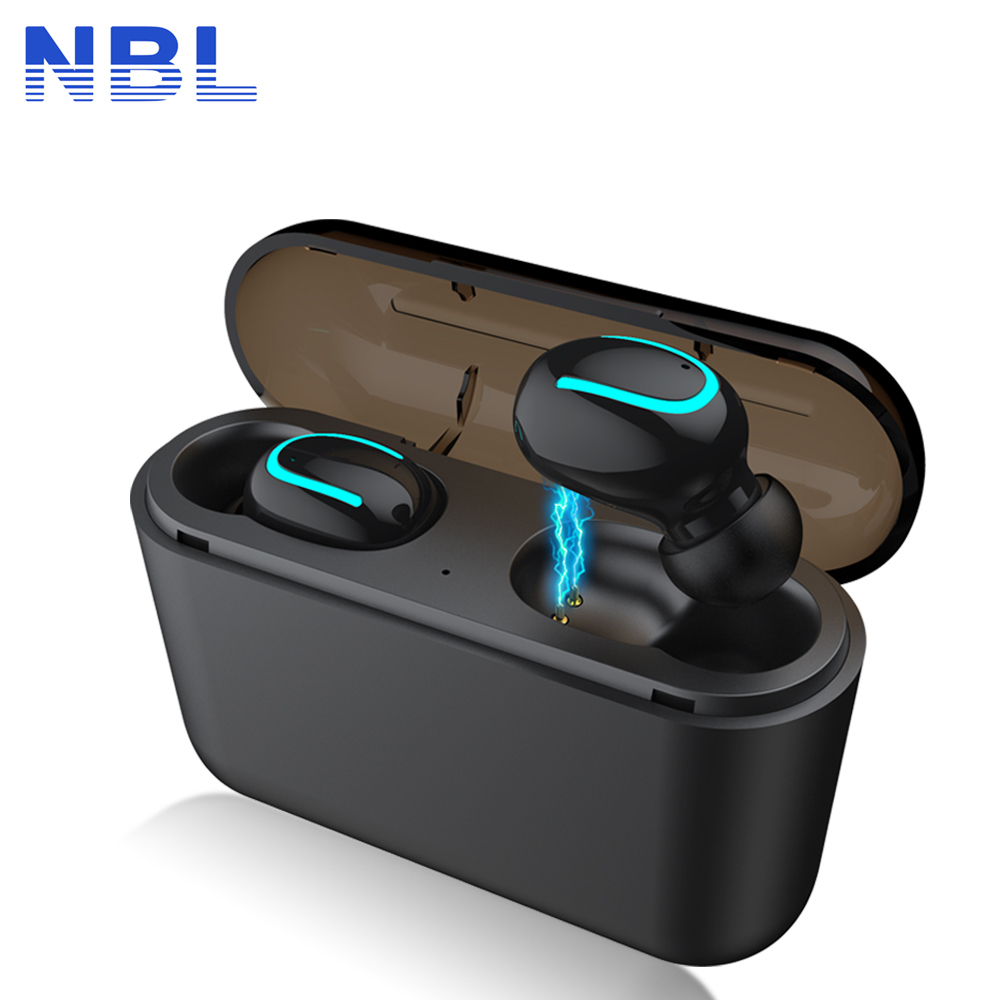 TWS bluetooth 5.0 Earphones Wireless In-Ear Blutooth Earphone Handsfree Head-phone Sports Earbuds Headset with Power Banks